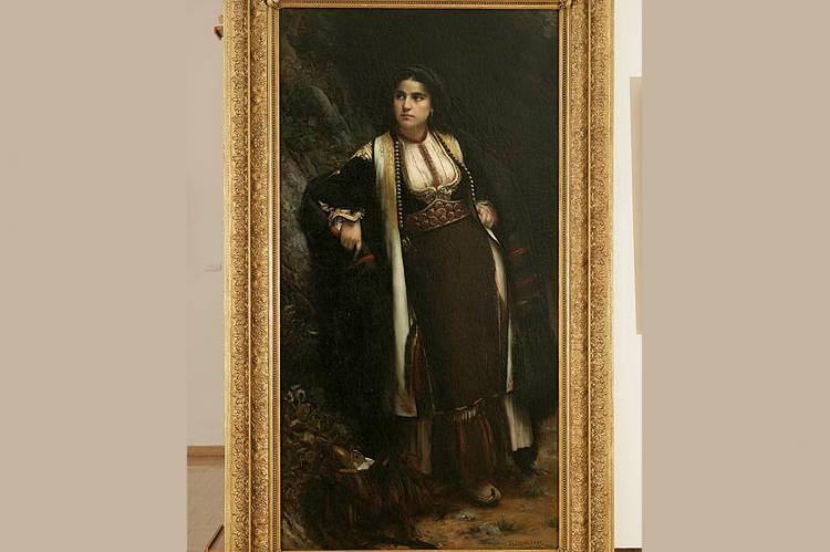 Crnogorka na sastanku, 1883., Moderna galerija, Zagreb